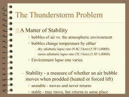 The Thunderstorm Problem