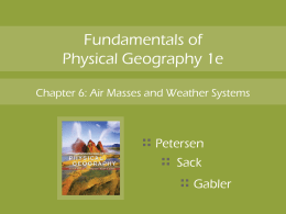 Air Masses and Weather Systems - GEO