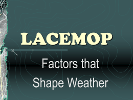 Factors that shape wheather notes