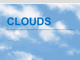 Clouds Notes