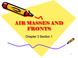 air masses and fronts - Kenston Local Schools