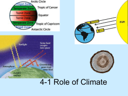 4-1 Role of Climate