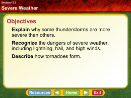 Severe Weather Section 13.2