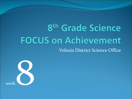 8th Grade Science FOCUS on Achievement