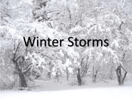 V. Winter Storms