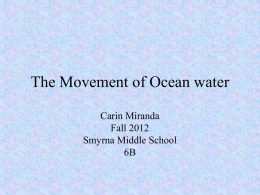 Chapter 5 Ocean Waves - Smyrna Middle School