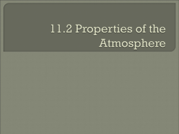 Chapter 11.2: Properties of the Atmosphere