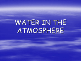 water in the atmosphere - Fort Thomas Independent Schools