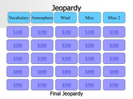 Jeopardy - Effingham County Schools