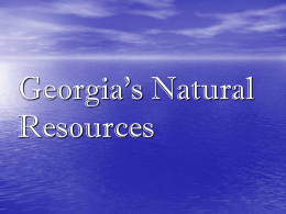 Georgia`s Natural Resources