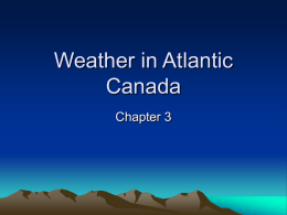Weather in Atlantic Canada