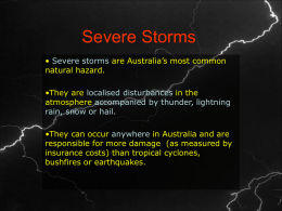 Severe Storms - yr10geography