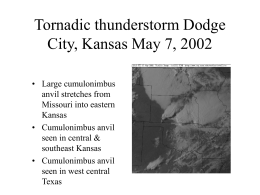 PowerPoint Presentation - Tornadic thunderstorm Dodge City