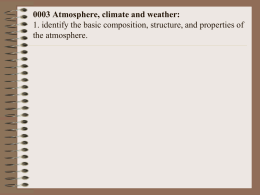 0003 Atmosphere, climate and weather