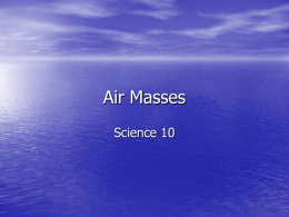 Air Masses - HRSBSTAFF Home Page