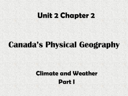 Climate and Weather I
