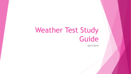 Weather Test Study Guide