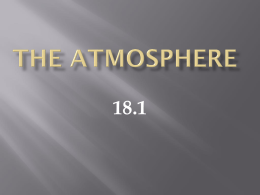 Chapter 18 The Atmosphere - Manasquan Public Schools