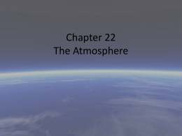 Chapter 22 The Atmosphere