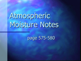 Atmospheric Moisture PPT File