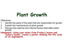 Plant Growth - GordonOCDSB