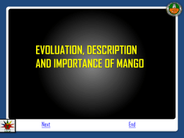2. Evolution, description and importance of mango