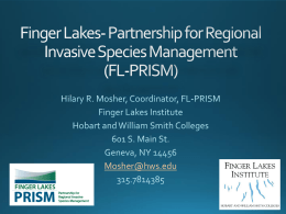 Finger Lakes - Partnership for Regional Invasive Species