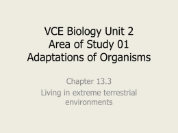 Chapter 13.3 - VCE Biology Units 1 and 2