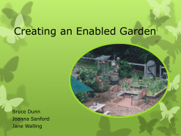 Creating an Adaptive Garden