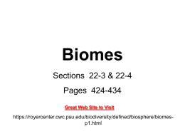 Biomes - Ursuline High School