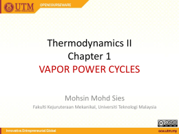 SKMM 2413 Thermodynamics I