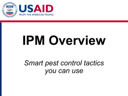 IPM Overview - USAID: Africa Bureau: Office of Sustainable