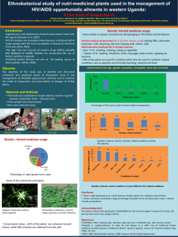 Inventory of nutri-medicinal plants used in the management