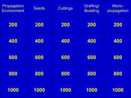 Propagation Jeopardy - University of Florida