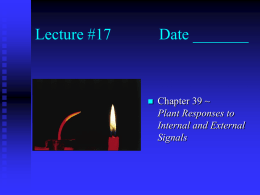 Lecture #17 Date - Simon Technology