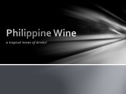 Philippine Wine - Welcome to