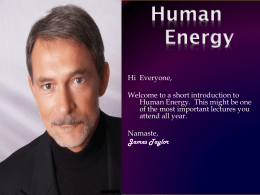 Human Energy - The Assumptions