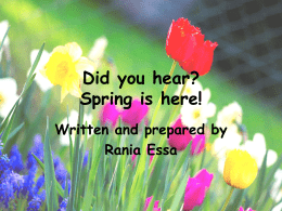 Did you hear? Spring is here!
