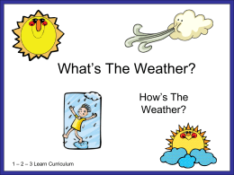 What's The Weather? - 123 Learn Curriculum