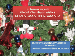 E-Twinning project: Global Christmas wishes CHRISTMAS IN