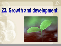 23.4 Growth and development in plants