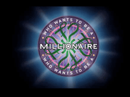 Who Wants to be a Millionaire TAKS Review Game