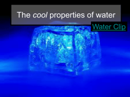 The cool properties of water