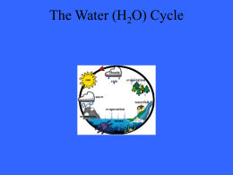 The Water (H2O) Cycle