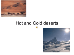 Hot and Cold deserts