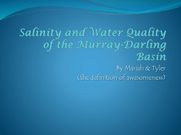 Salinity and Water Quality of the Murray