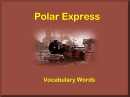Polar Express Vocabulary