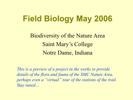 Field Biology May 2006