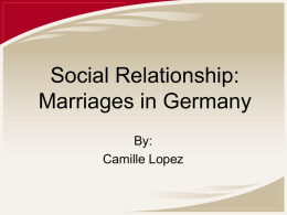 Marriages in Germany