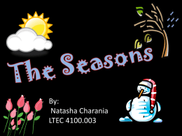Powerpoint on seasons